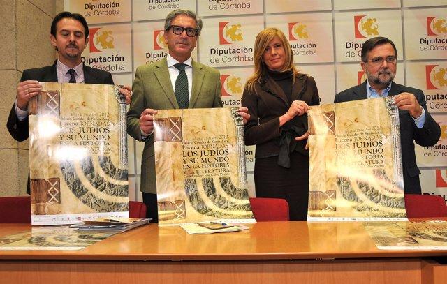 Lara, Pineda, Alarcón Y Calvo Poyato Con Carteles De Las Jornadas