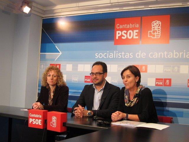 Antonio Hernando, Dolores Gorostiaga Y Rosa Eva Díaz Tezanos