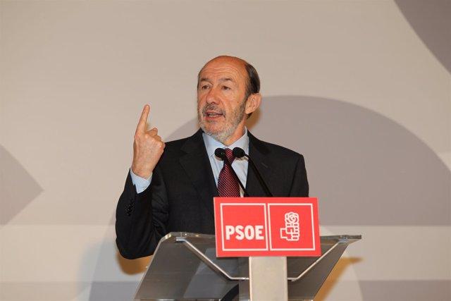 Alfredo Pérez Rubalcaba, En Rueda De Prensa