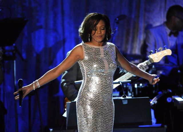 Whitney Houston Performs At The Pre-Grammy Gala & Salute To Industry Icons With