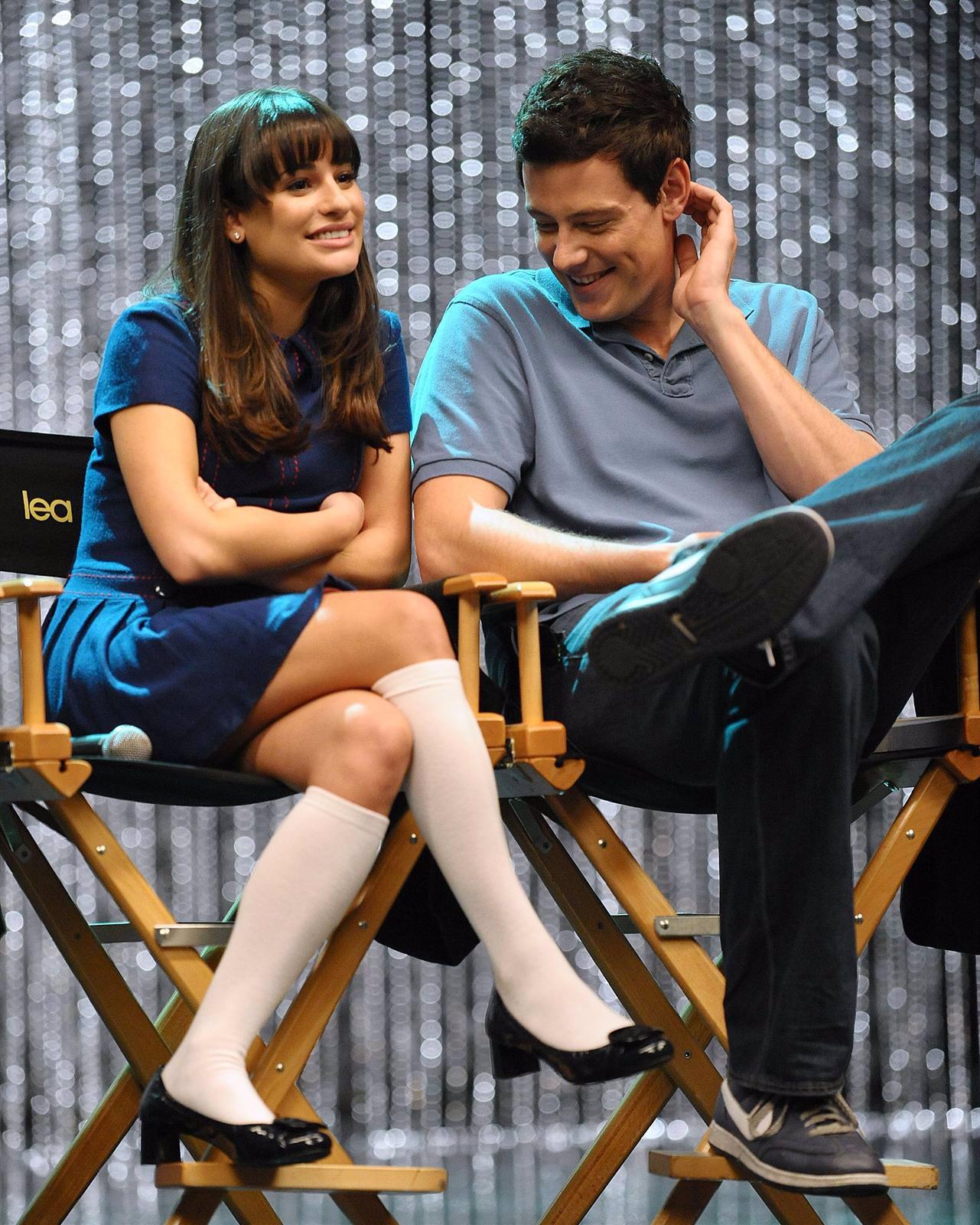 Lea Michele Y Cory Monteith, Protagonistas De Glee