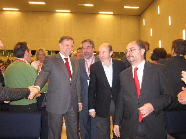 Rubalcaba Con Iglesias Y Lambán