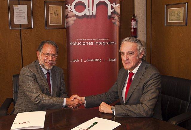 Firma Del Convenio Entre AIN Y El Instituto De Investigaciones Eléctricas