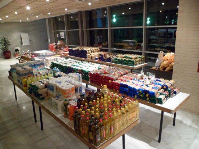 Alimentos Recogidos En La II 'Operación Kilo' En Cuarte (Zaragoza)