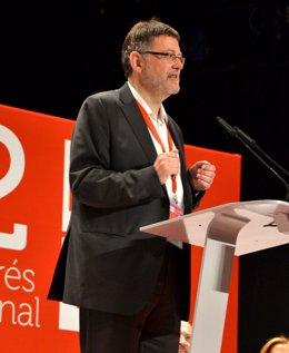 Ximo Puig Durante Una De Sus Intervenciones En El 12 Congreso Nacional Del PSPV