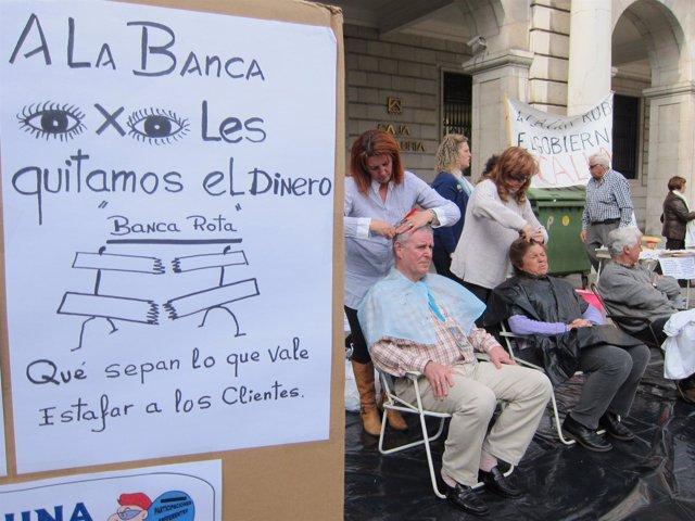 Acto De Protesta De Los Afectados Cántabros Por Las Preferentes