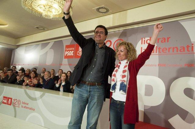La Nueva Secretaria General Del PSOE Con Oscar López, De La Ejecutiva Federal