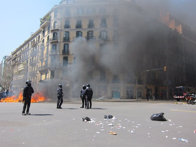 Incidentes En La Jornada De Huelga Del 29 De Marzo
