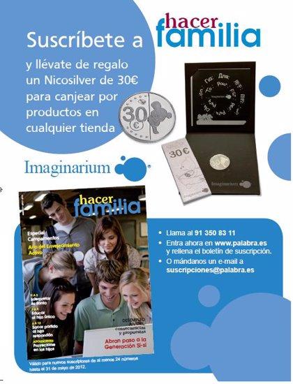 ¡Suscríbete ahora a Hacer Familia y llévate 30 € de regalo en Imaginarium!