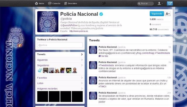 Cuenta De Twitter Policía Nacional
