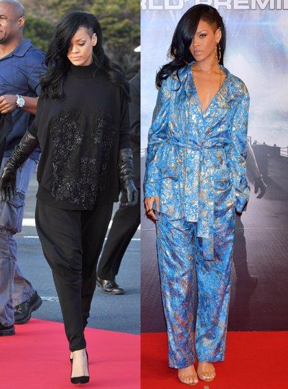 Rihanna se atreve con el pijama sobre la alfombra roja