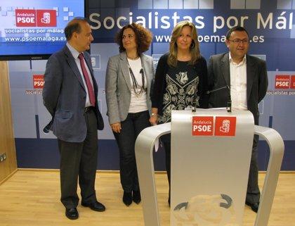 PSOE critica que, por primera vez, Málaga está por debajo de la media española en inversión por habitante
