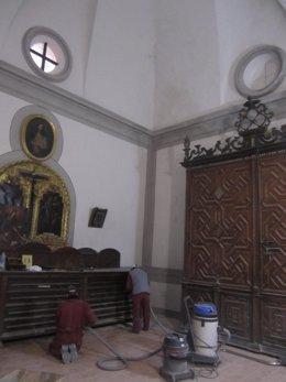 Trabajos En La Sacristía De La Catedral De Albarracín (Teruel)