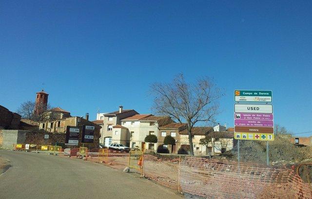 Entrada Al Municipio De Used (Zaragoza)