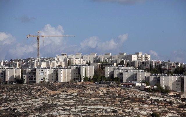 Vista General De Gilo, Un Asentamiento Judío En Jerusalén Este
