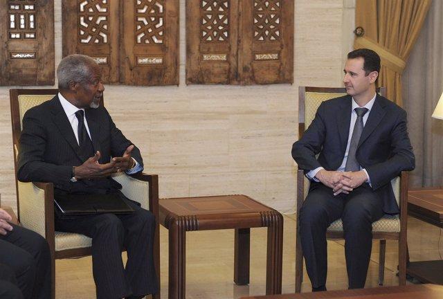 Bashar Al-Assad Y Kofi Annan