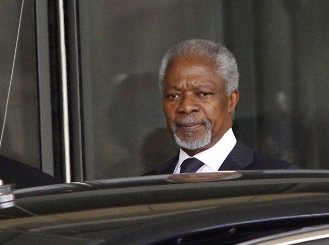 Kofi Annan, Enviado De La Liga Árabe Y Exsecretario General De La ONU
