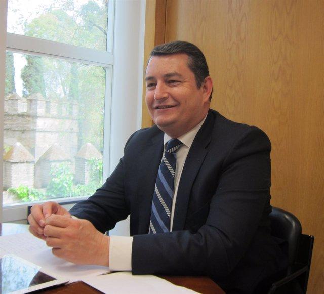 Antonio Sanz, Durante La Entrevista Con Europa Press