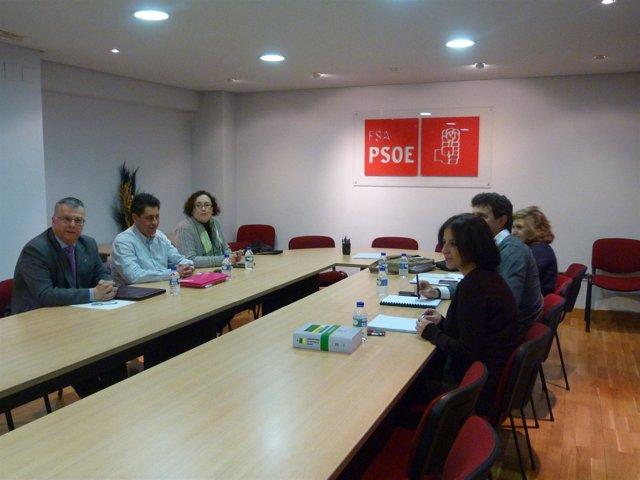 Reunión Entre Representantes De La FSA-PSOE Y Upyd