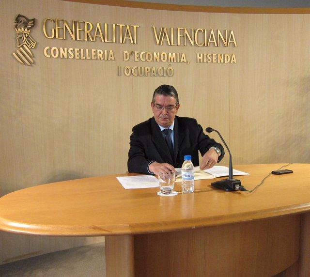 José Manuel Vela durante la rueda de prensa sobre CAM