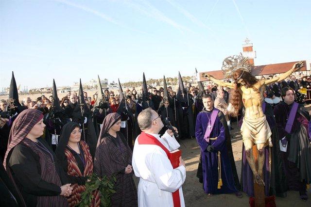 Traslado Del Pasado Año Del Cristo De La Semana Santa Marinera