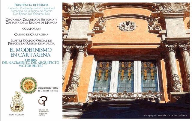 Cartel De Las Jornadas Sobre Víctor Beltrí Y El Modernismo