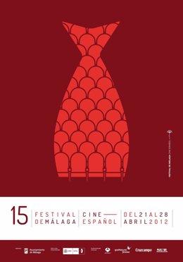 Cartel De La Edición 15 Del Festival De Málaga-Cine Español
