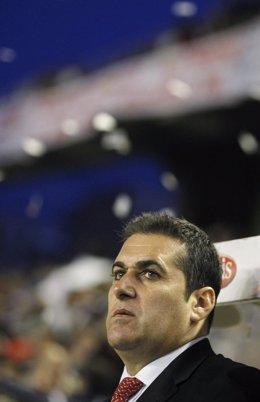 El Entrenador Del Rayo Vallecano, José Ramón Sandoval