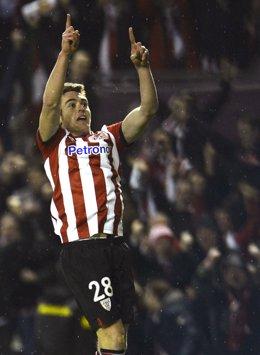 Ibai Gómez Celebra El Primer Gol Del Athletic