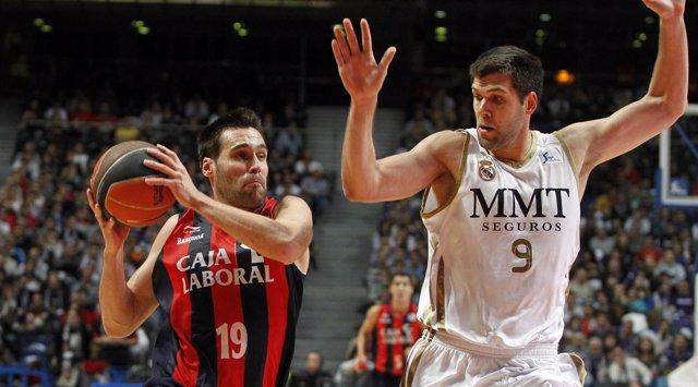 San Emeterio Y Felipe Reyes, Real Madrid - Caja Laboral (Baloncesto)