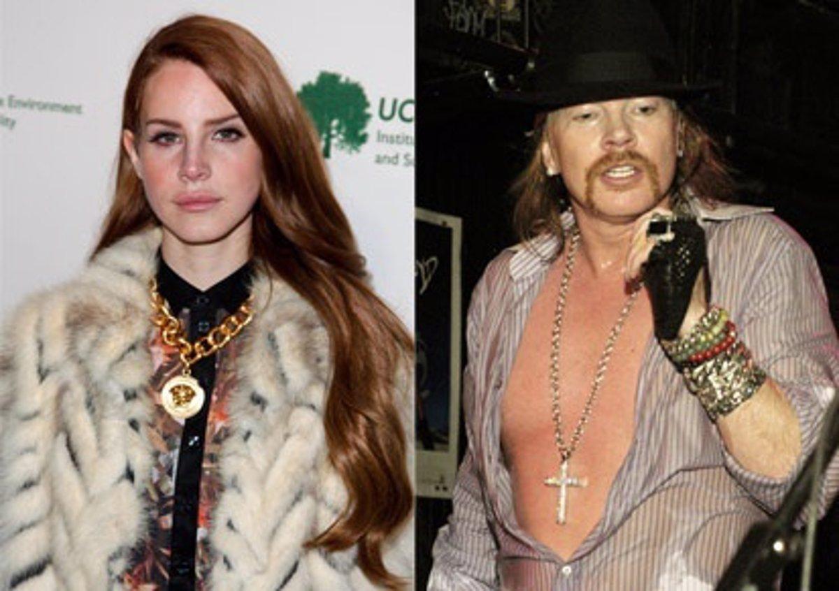 Lana Del Rey Y Axl Rose Podrian Ser Pareja A Pesar De Los 25 Anos De Diferencia