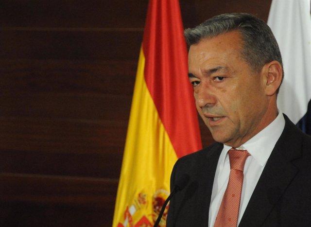 Paulino Rivero Comparece Tras El Consejo Asesor