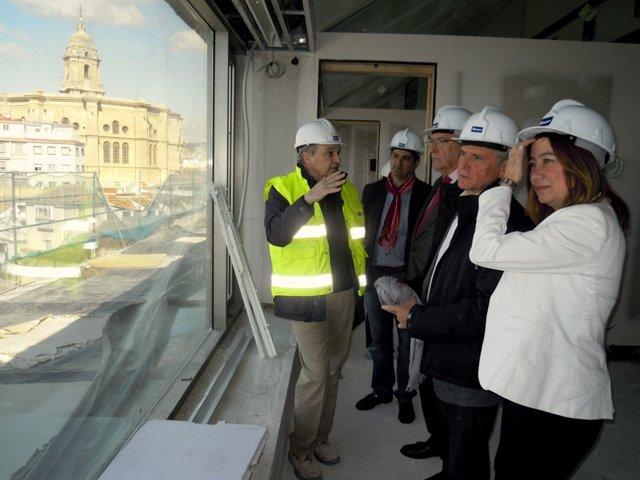 Hernández Mollar Y Plata Visitan Las Obras De La Aduana