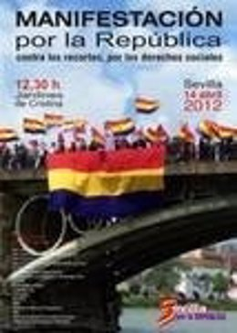 Cartel De La Manifestación Por La República En Sevilla