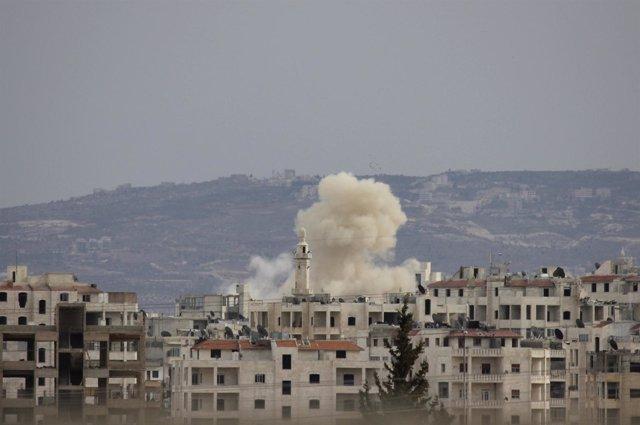 Explosiones En La Ciudad Siria De Idlib