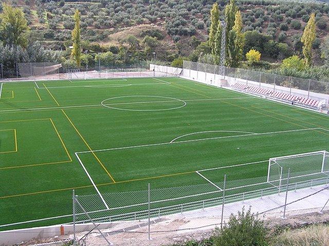 La Comunidad Inaugura Un Nuevo Campo De C 233 Sped Artificial