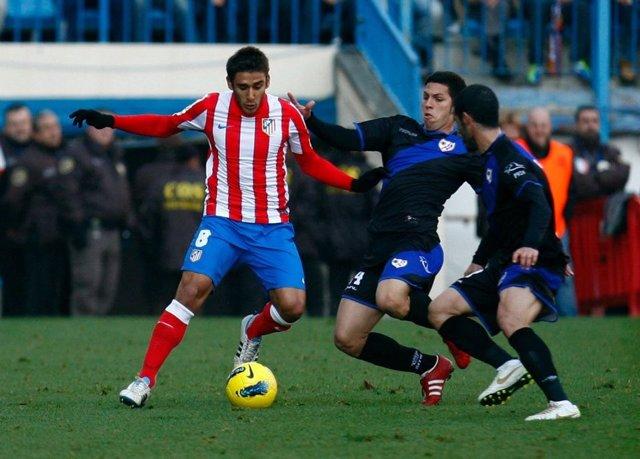 Eduardo Salvio En El Atlético Madrid-Rayo Vallecano