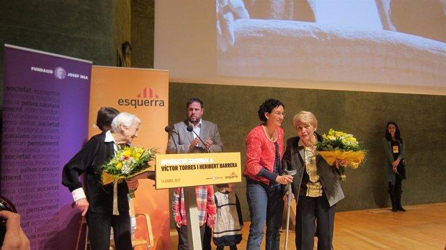 Oriol Junqueras Y Marta Rovira, En El Acto Homenaje A La República