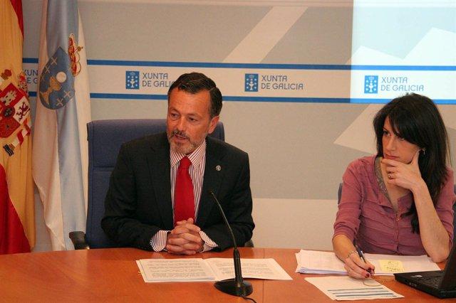 Agustín Hernández Y María Martínez Allegue En Rueda De Prensa