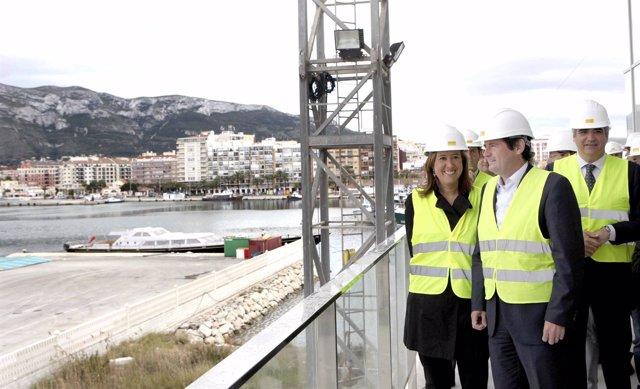Ciscar Visita Las Obras De La Estación Marítima De Dénia (Alicante)