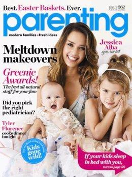 Portada Revista Parenting Abril 2012. Jessica Alba