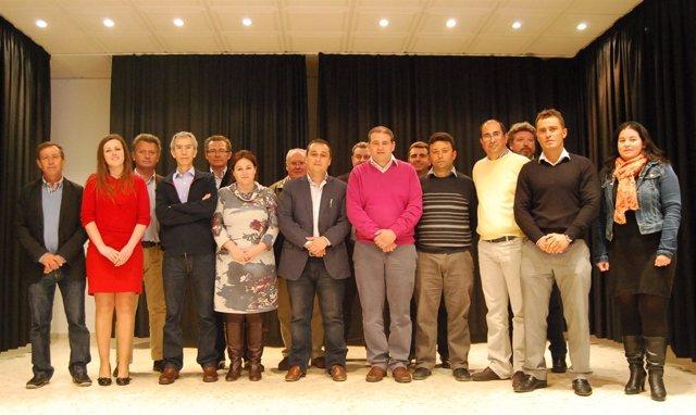 Alcaldes Del PA Reunidos En Tocina (Sevilla)