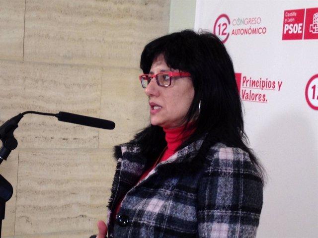 La Secretaria Del PSOE En León, Teresa Gutiérrez