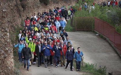Cerca de 900 personas han participado en el segundo Paseo Saludable, que ha recorrido las huertas del Iregua