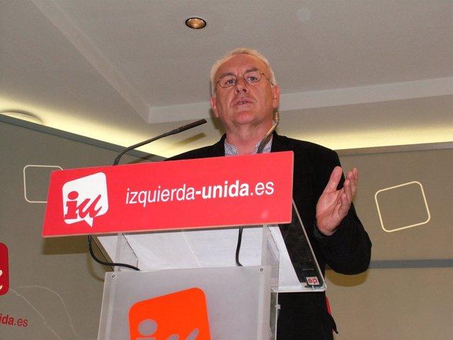 El Coordinador Federal De IU, Cayo Lara, En Rueda De Prensa