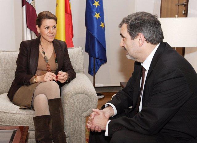 Cospedal Con El Presidente De Telefónica-España