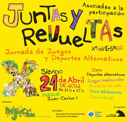 El Parque Juan Carlos I acoge la X edición de 'Juntas & Revueltas', jornada infantil y juvenil de juegos y deportes