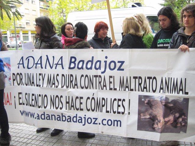 Concentración Frente A Los Juzgados De Badajoz