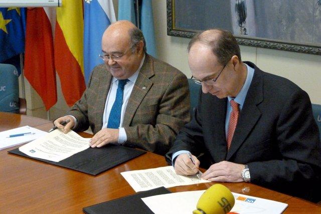 Rector De La UC Y Presidente Del Parlamento De Cantabria