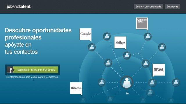 Página Web Job And Talent